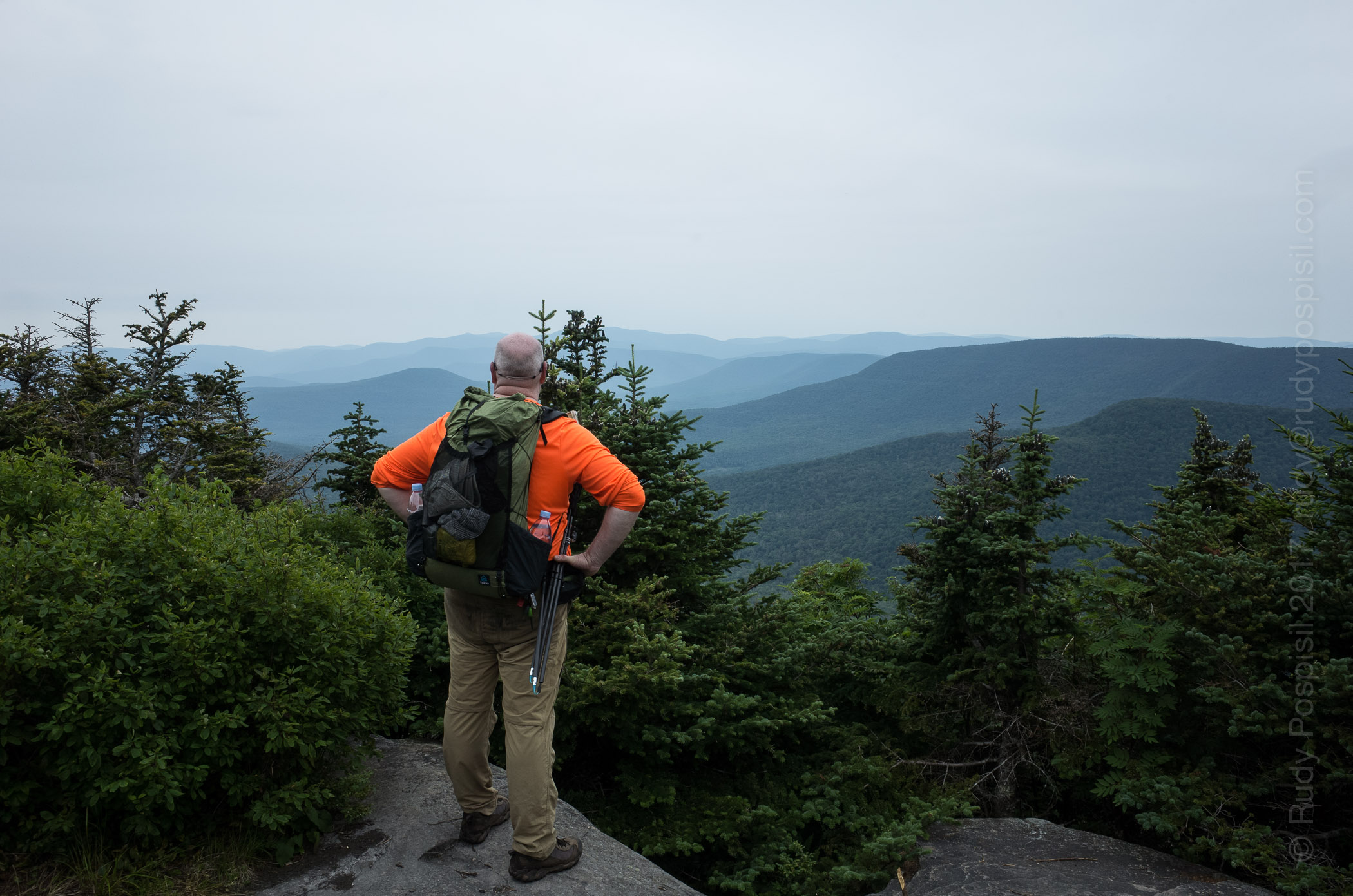 Your's Truly, looking out over the Catskills from the lower summit of Twin Mountain.