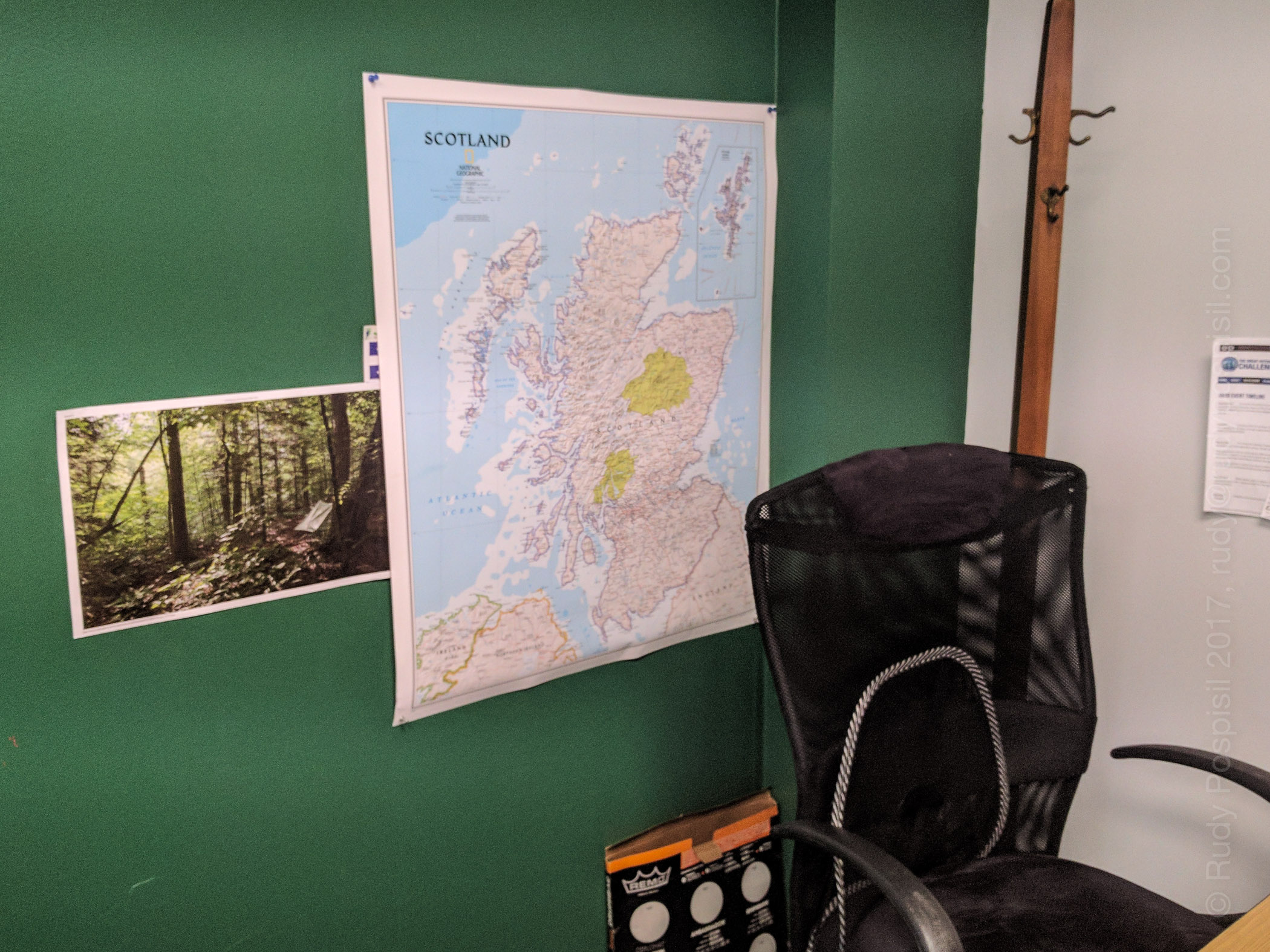 Hanging up a map of Scotland in my office as I begin plans for (hopefully) backpacking across Scotland in the 2018 TGO.